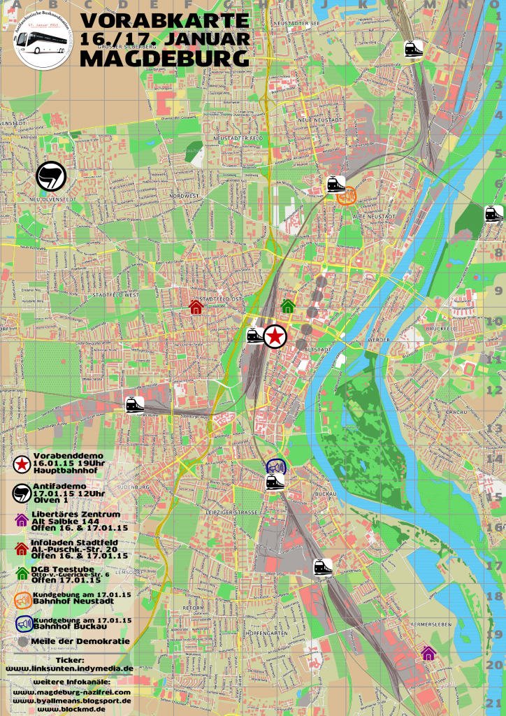 Vorabkarte 16. und 17.01.15 Magdeburg